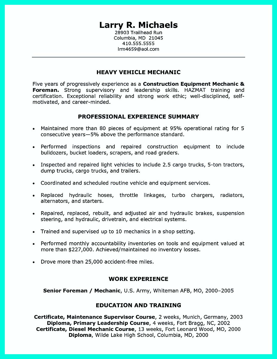 Construction Worker Resume Example To Get You Noticed  Construction Worker Resume