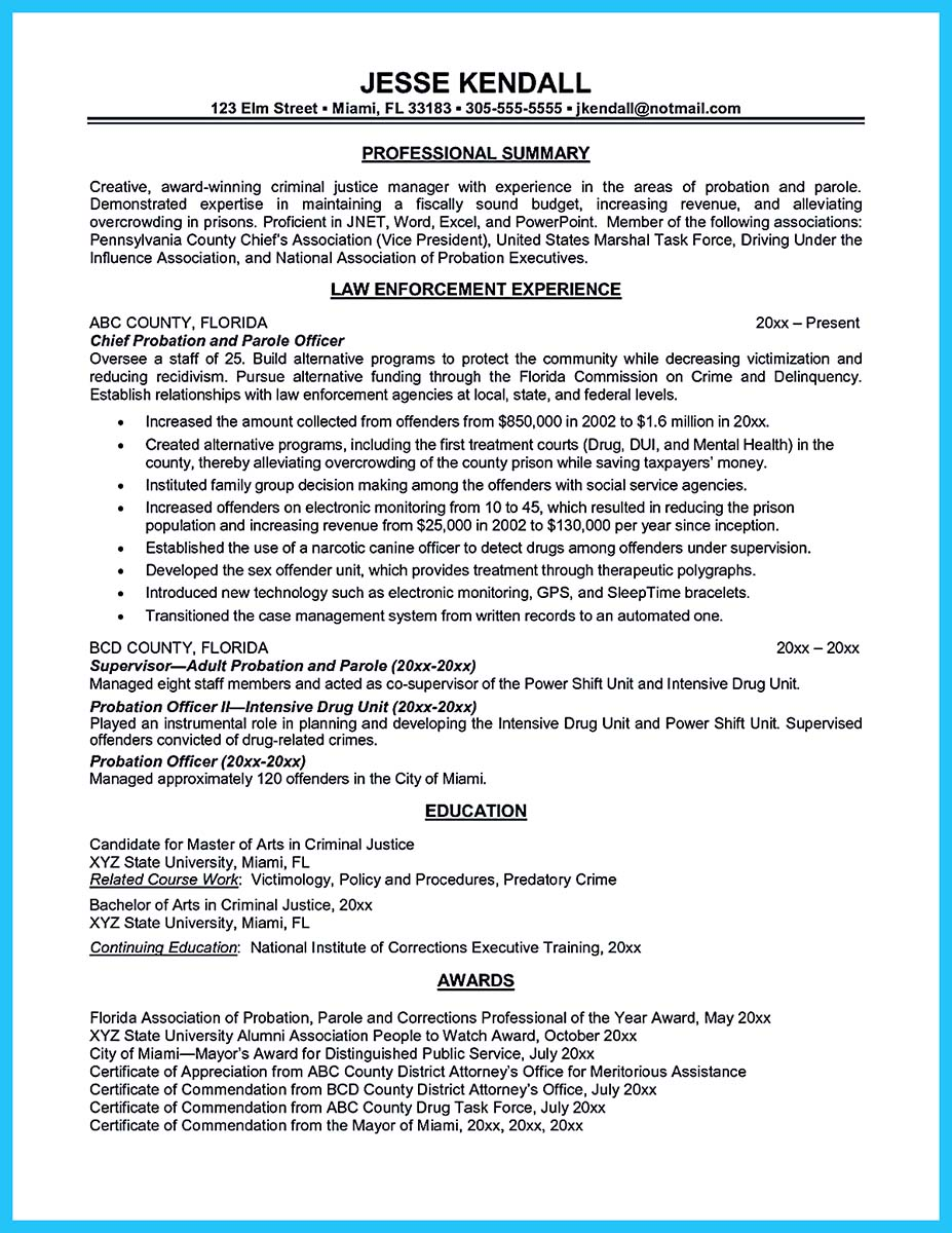 entry level federal resume template