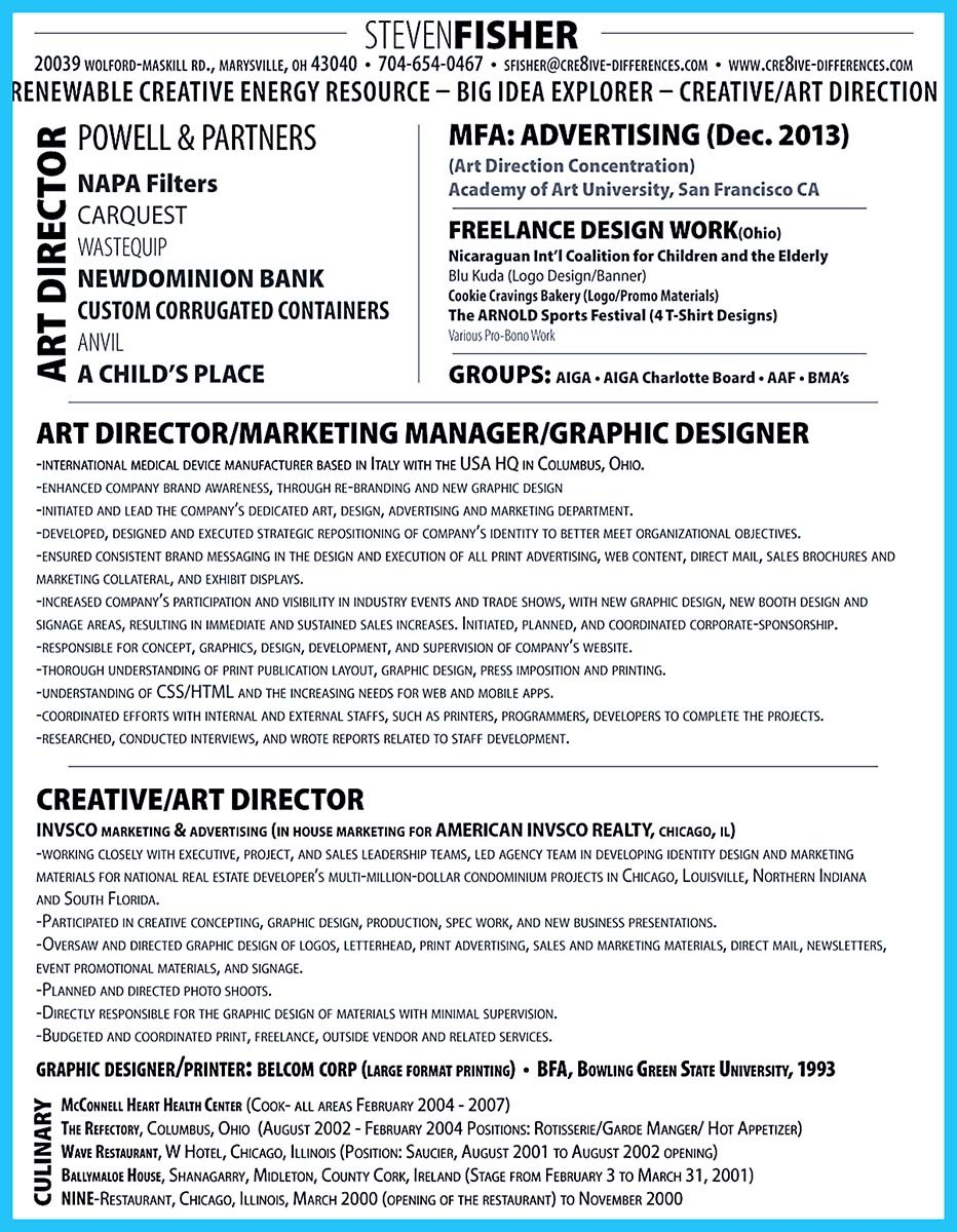 Interactive Art Director Resume That Can Impress Your Employer