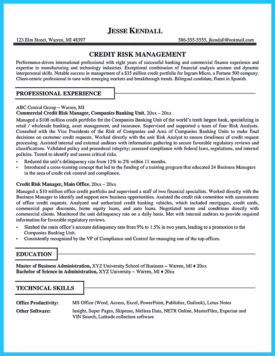 Cool Credit Analyst Resume Example from Professional