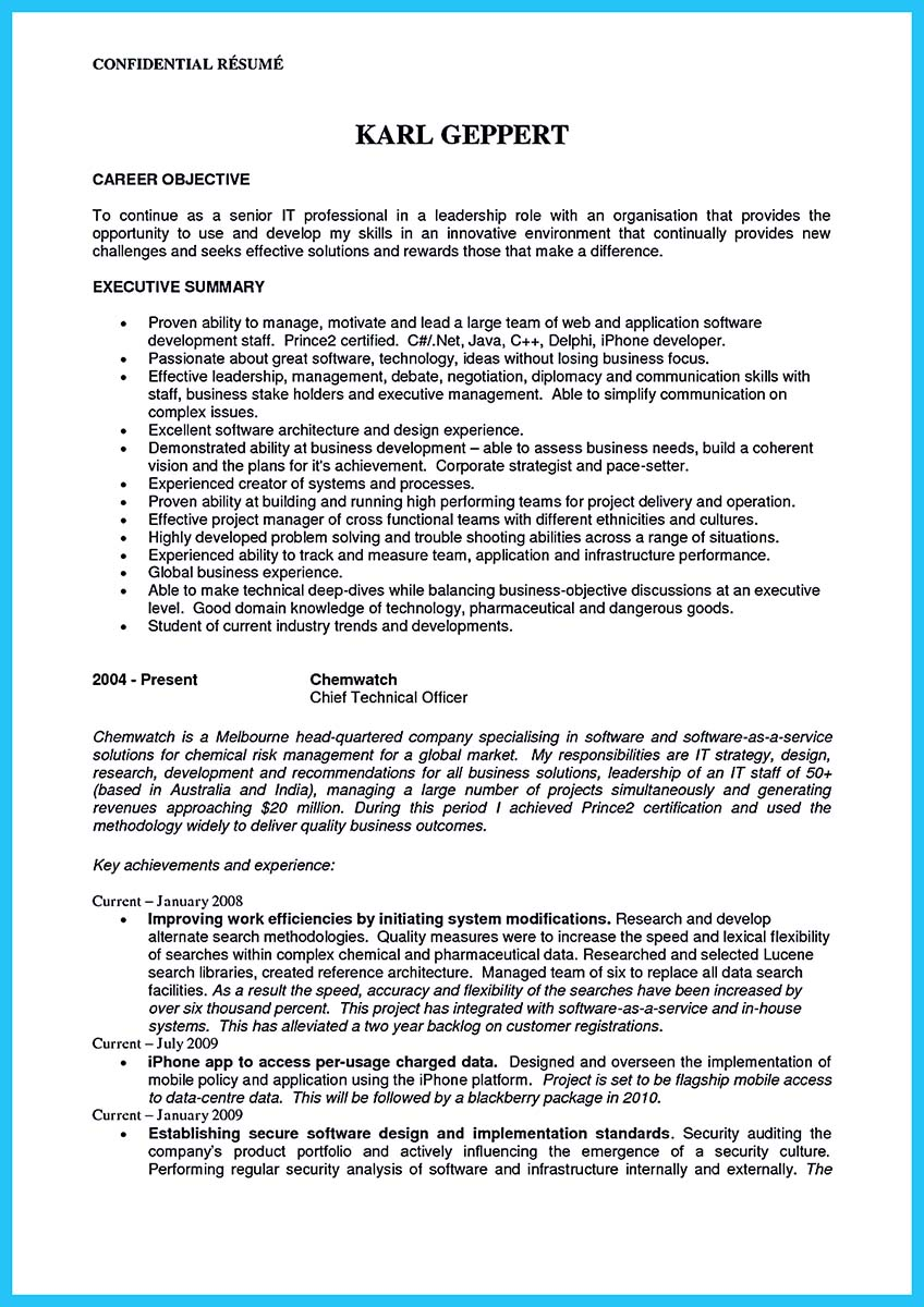 Outstanding CTO Resume For Professionals