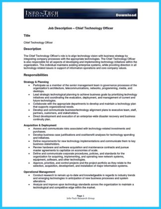 Cto Resume Example Cto Job Description Cto Cover Letter Ojt