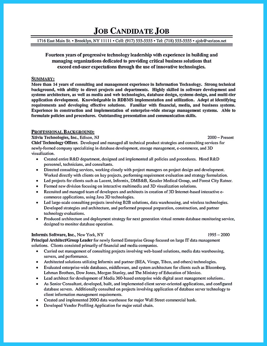 Writing Services Cto Resume