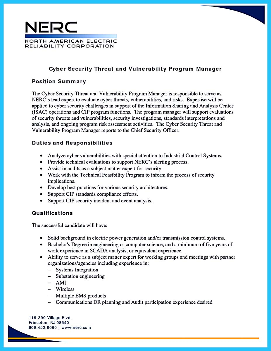 cyber security cover letter