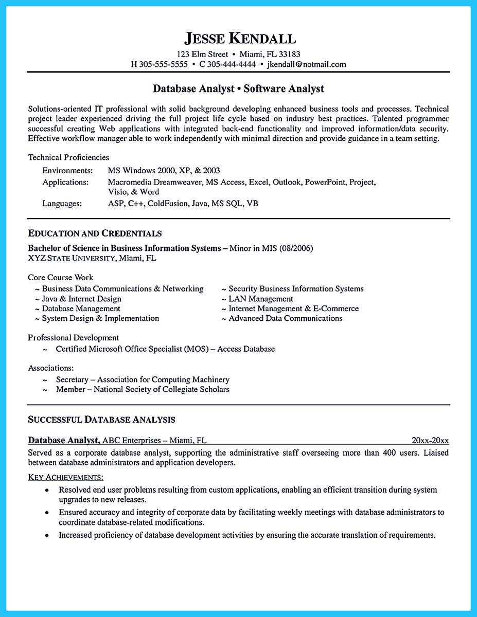 business analyst resume with no experience