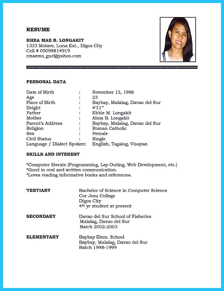 scientist resume format