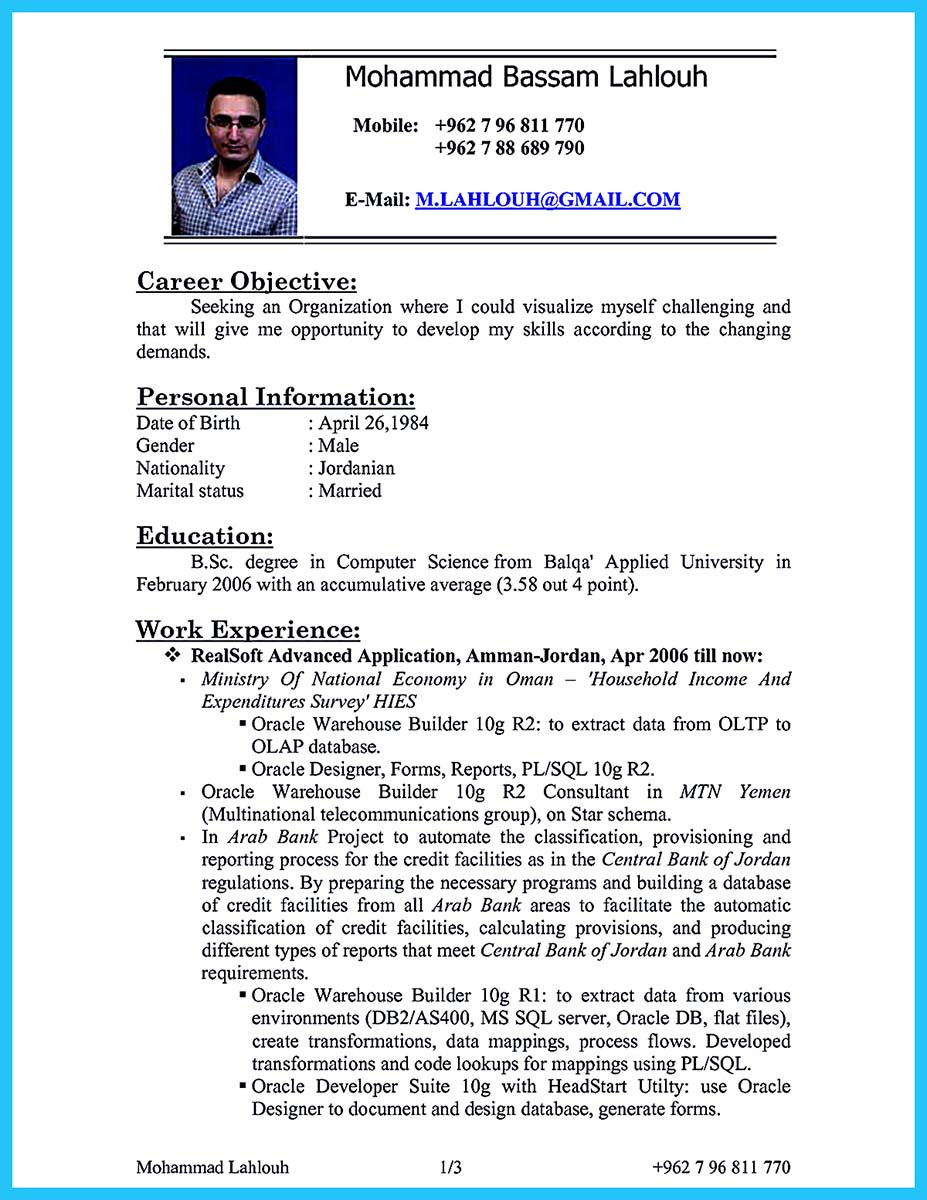 High Impact Database Administrator Resume to Get Noticed Easily