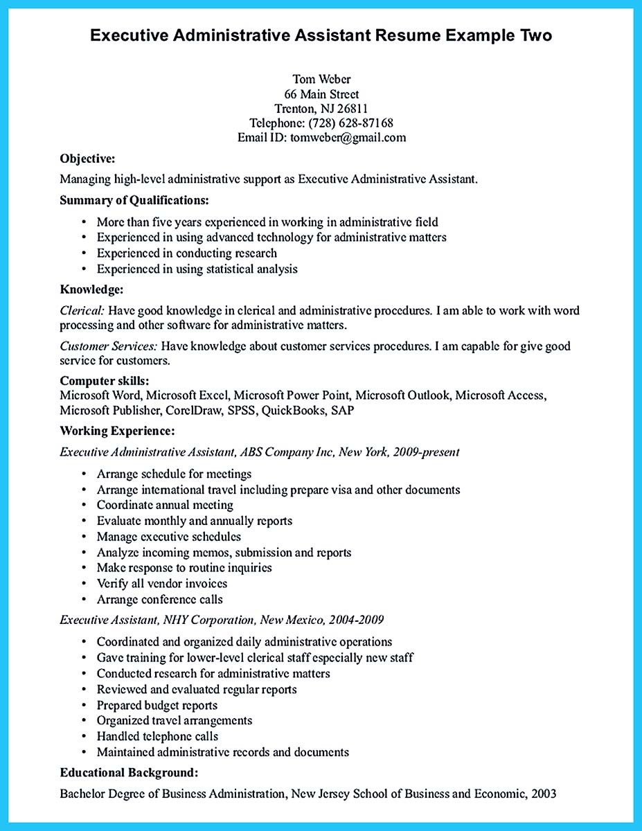 Executive Administrative Assistant Resume ] | Executive ...