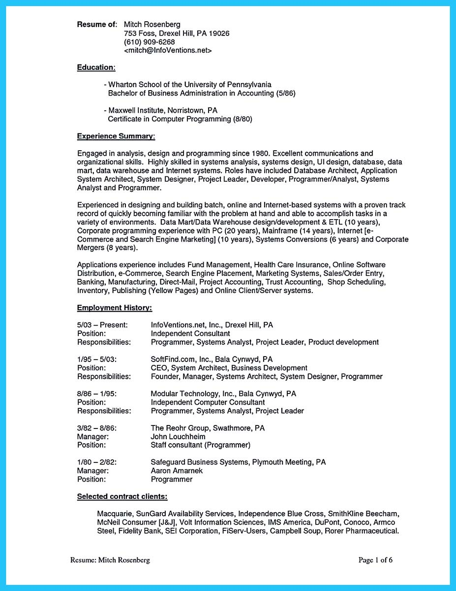 Appealing Formula for Wonderful Business Administration Resume