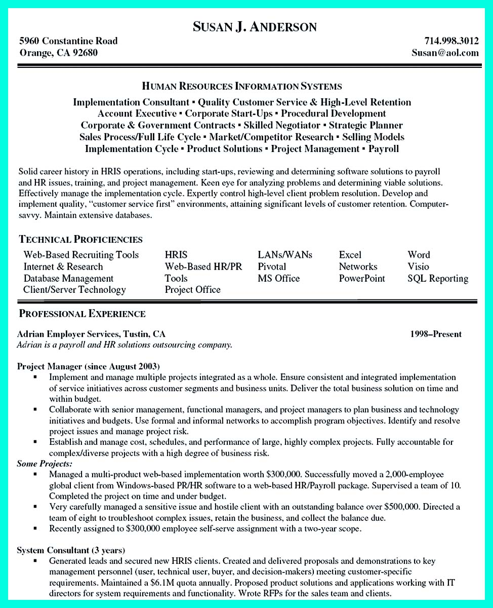 example of resume objective for manager position