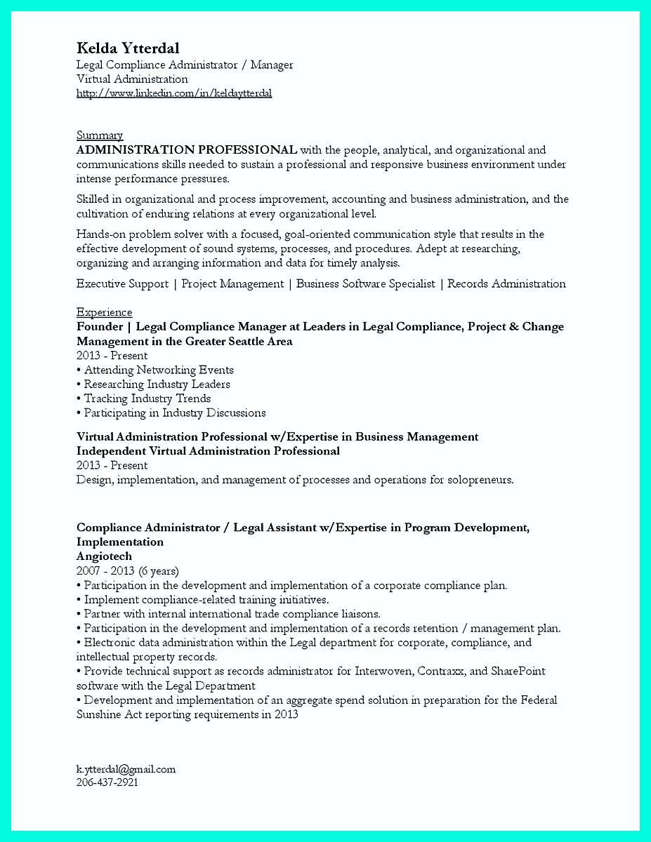 Compliance Attorney Cover Letter Best Compliance Officer Resume To Get Manager S Attention
