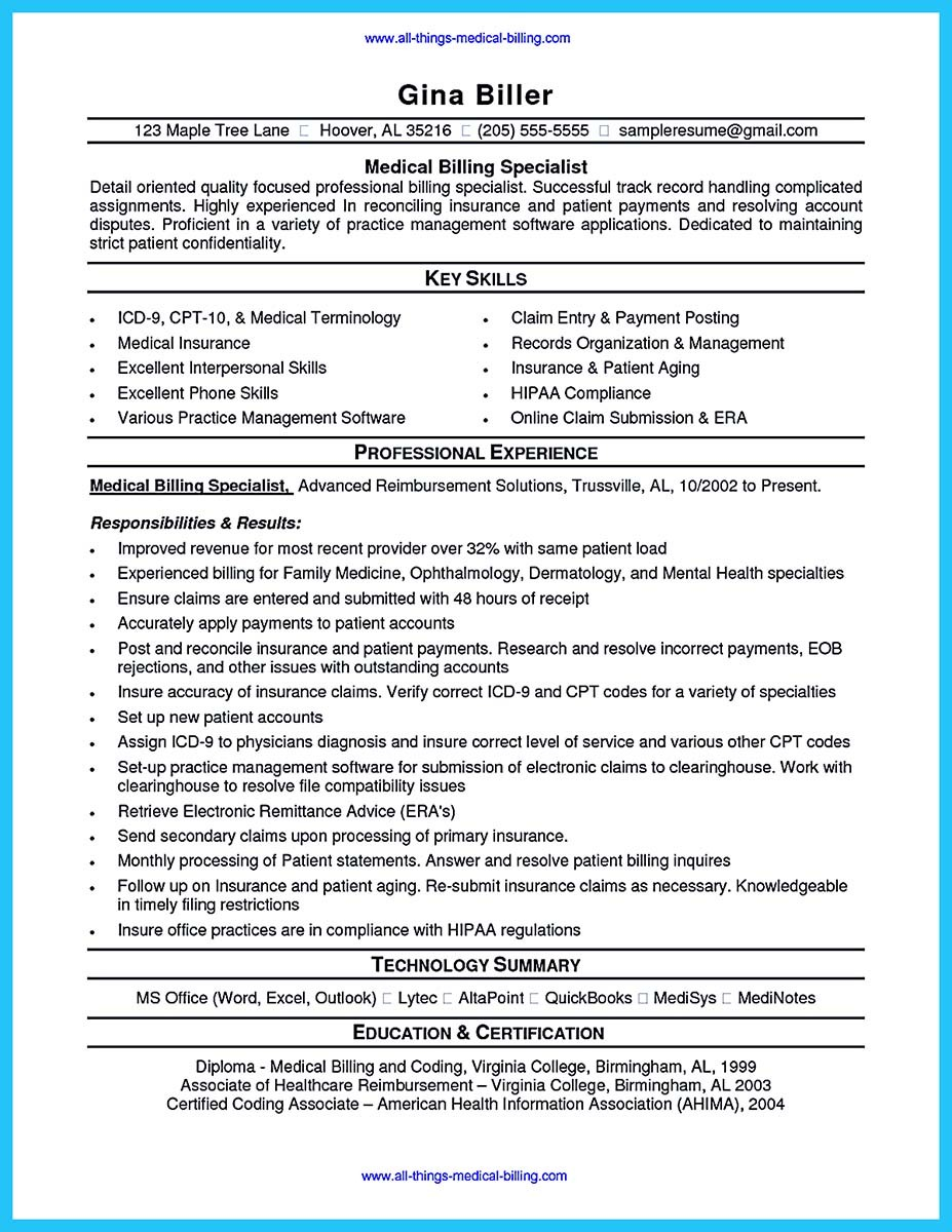 medical billing resume examples job skills necessary for success essay homework help coordinates
