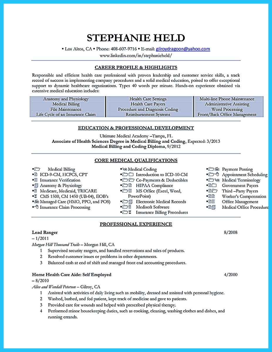 medical claims specialist resume sample