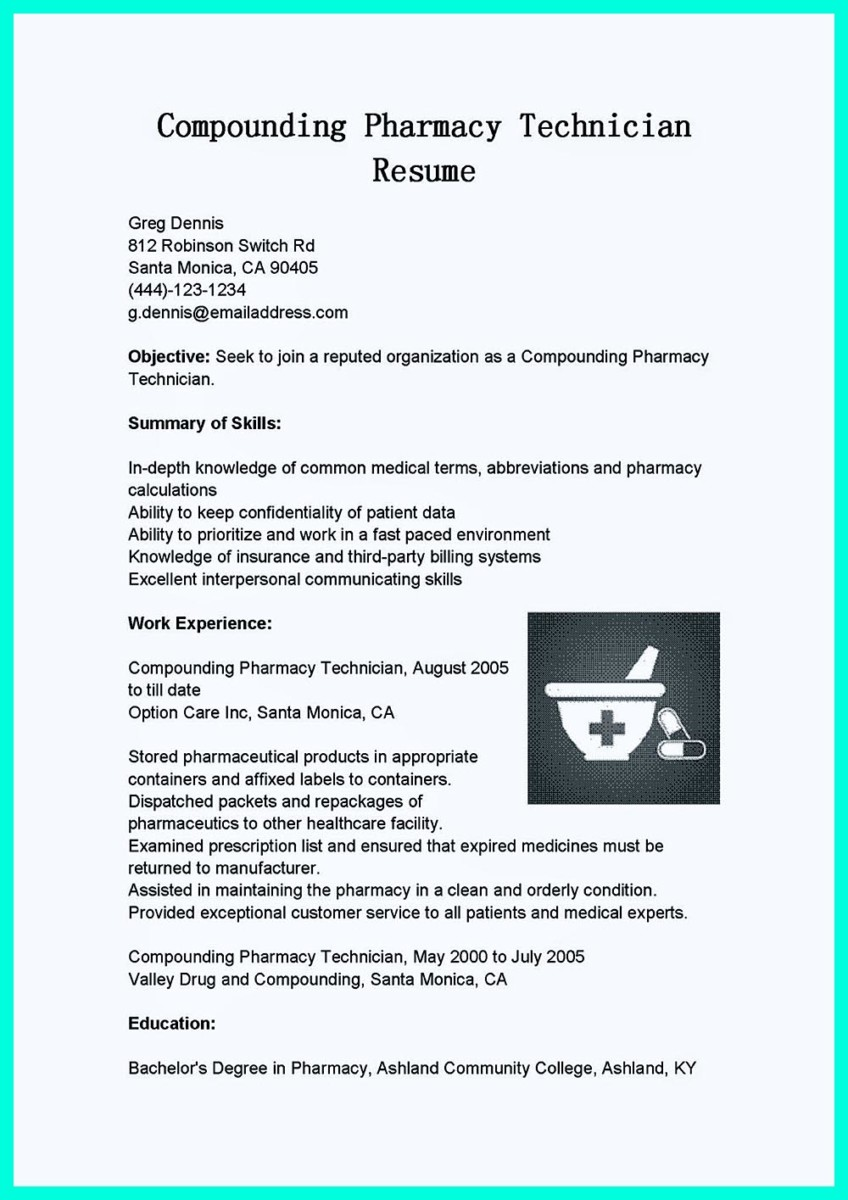 What Objectives to Mention in Certified Pharmacy Technician Resume