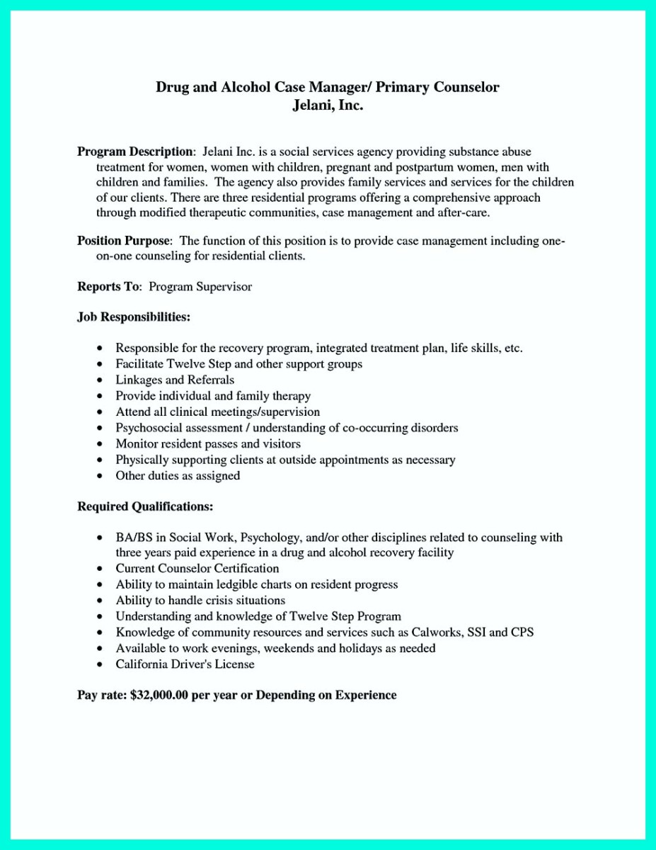 resume objective for case manager job