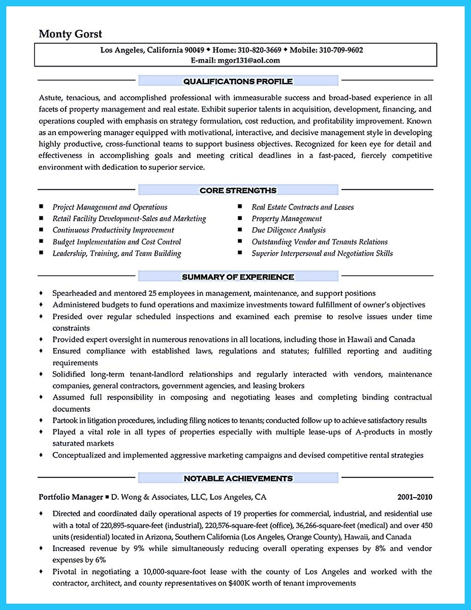 resume profile manager