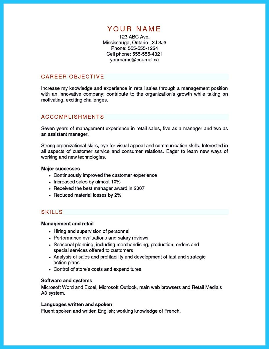 Crafting a Great Assistant Store Manager Resume