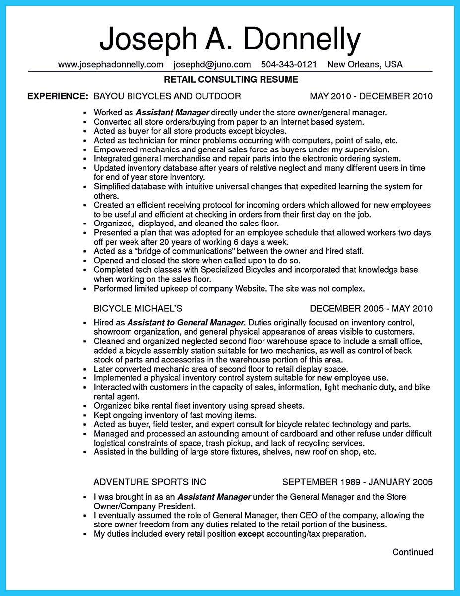resume examples for a trainer