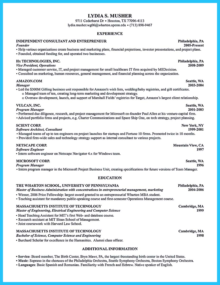 Special Guides for Those Really Desire Best Business School Resume
