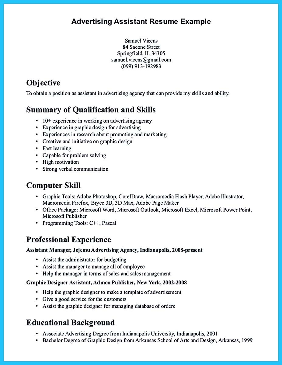 Writing Your Assistant Resume Carefully  Virtual Assistant Resume