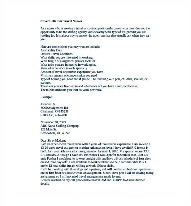 10 Nursing Cover Letter Sample  How to Write Perfect Format  Content