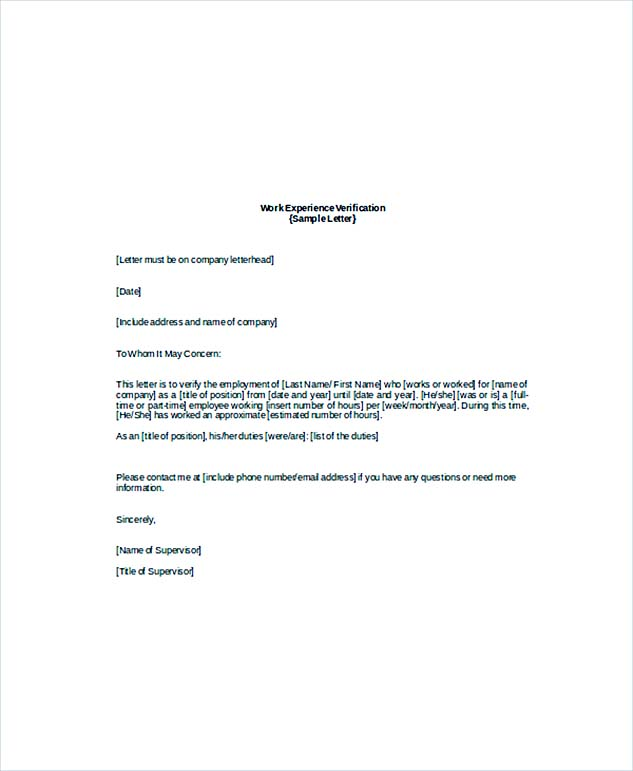 Employment Verification Letter: What Information to Include