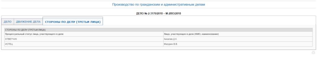 Скриншот с сайта Королевского суда Московской области