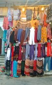 Colourful clothes on sale at one of the road-side shop.