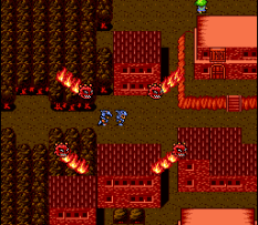 Cecil and Kain accidentally destroy the Mist Village