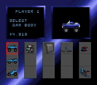 The shop screen