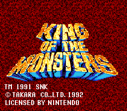 King of the Monsters 01