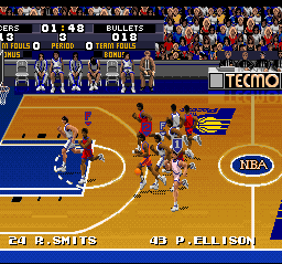 Tecmo Super NBA Basketball 12