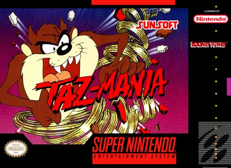 Taz-Mania US SNES box art