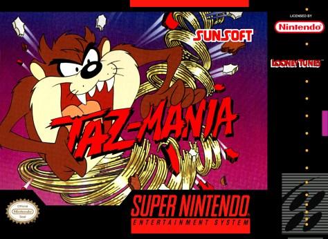Taz-Mania US SNES box art