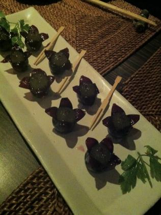 beautiful grapes in a Japanese restaurant