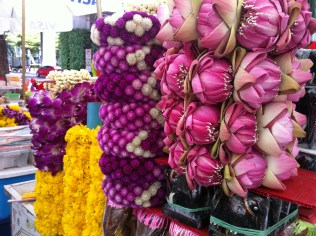 Flowers for Songkran Thai New Year offerings