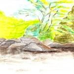 Suriname rivier bij Dan Paati