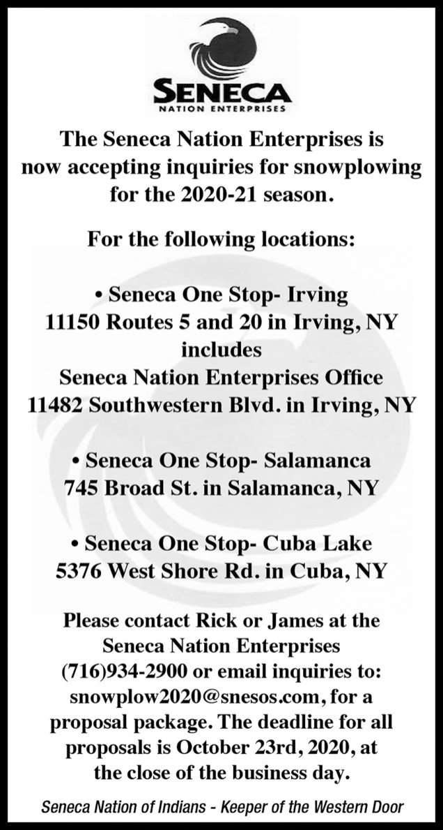 Seneca Nation Enterprises Ad