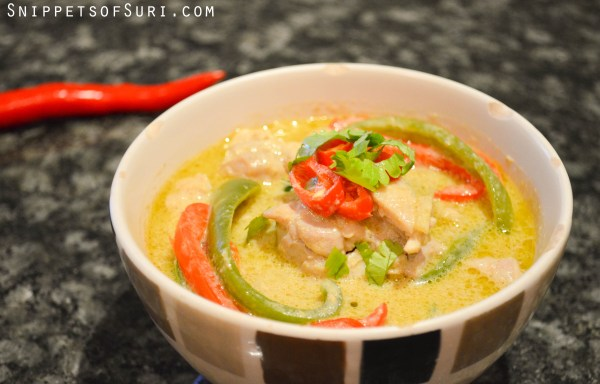 Thai Green Curry ready to be served!