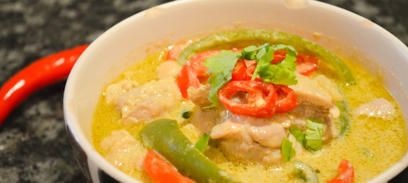 Simple green curry with chicken