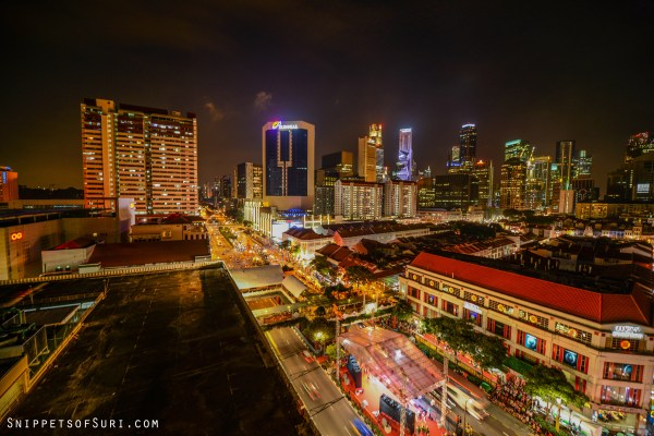 In Singapore, Chinatown, night photography