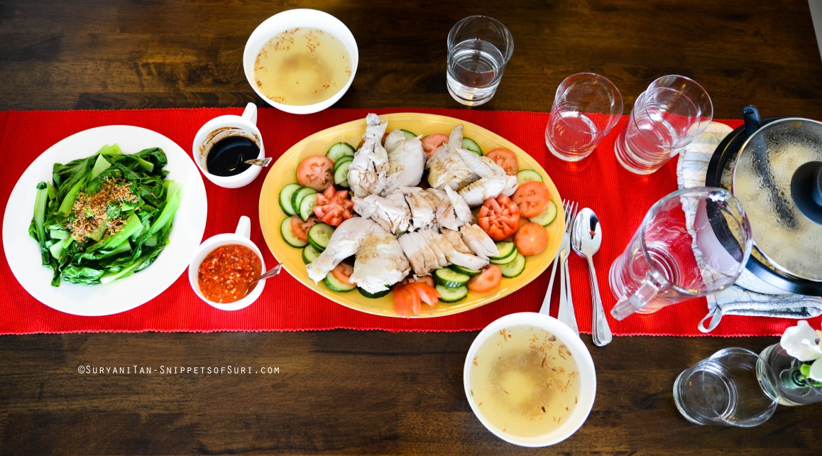 Hainanese Chicken Rice with Bok Choy