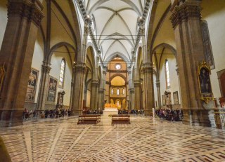 The inside of Santa Maria dei Fiore Cathedral