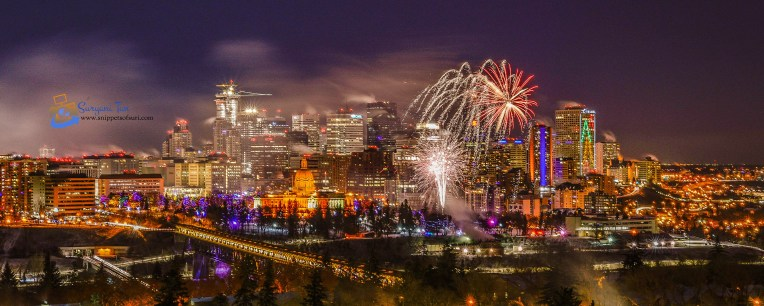 NYE Fireworks_Edmonton_Canada_1