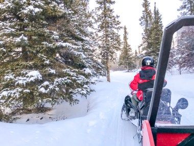 Winter Activity in Yukon Canada