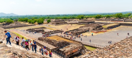 Teotihuacan Views from Pyramid of the Sun Mexico