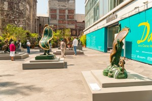 Centro Historico Downtown Mexico City Dali Artwork
