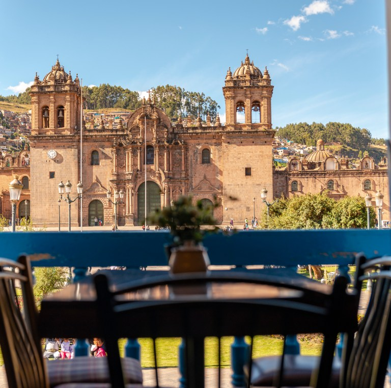 Plaza De Armas Taken from Capuccino Cafe Cusco Peru