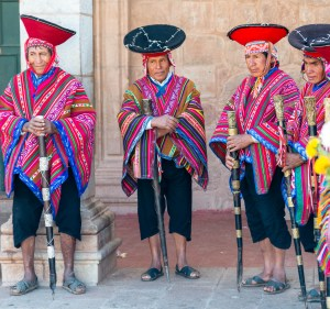 Local Elders at Sunday mass Sacred Valley Pisac Peru