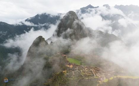 Machu Picchu Peru on Cloudy and Rainy Day